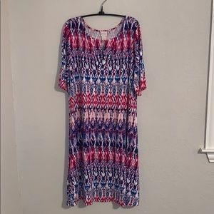 Chico's Women's Multi-colored Dress. Sz 3 or XL